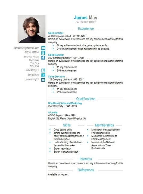 Free Cv Sles In Word Format by Contact Icons Word Cv Template Cv Template Master