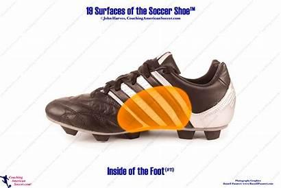 Foot Inside Soccer Pass Passing Push Shoe