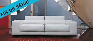 Canapé Blanc Design : canape cuir blanc design ~ Teatrodelosmanantiales.com Idées de Décoration
