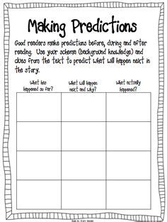 1000 images about predicting on pinterest making predictions prediction anchor chart and