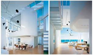 Modern House Interior by Modern Beach House With White Exterior Paint By Richard Meier DigsDigs