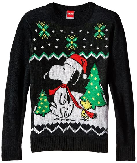 snoopy sweater official peanuts snoopy and woodstock youth