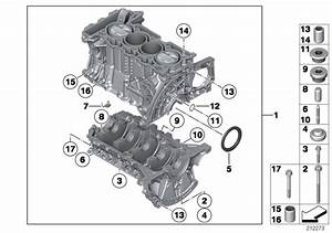 2010 Mini Cooper S Engine Block With Crankgear