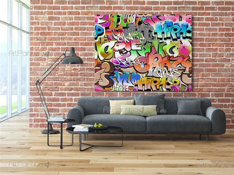 poster mural poster mural papier peint graffiti tag artpainting4you