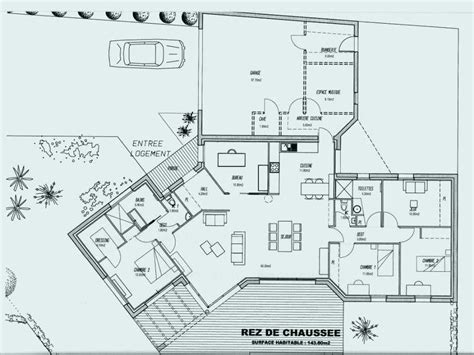 Merveilleux Plan Maison Plain Pied Gratuit 120m2 4