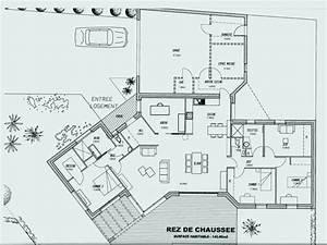 Maison 120m2 Plain Pied : merveilleux plan maison plain pied gratuit 120m2 4 chambres beautiful plans 2 modele plein of ~ Melissatoandfro.com Idées de Décoration