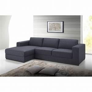 canape d39angle cote gauche design 4 places avec meridienne With tapis de marche avec canapé angle convertible méridienne