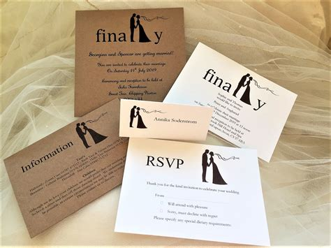 finally guest information cards affordable modern wedding stationery