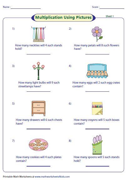 Basic Multiplication Worksheets