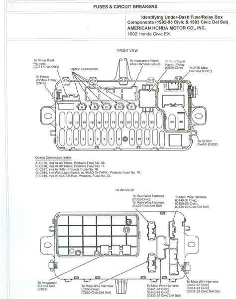 Free Auto Wiring Diagram Honda Civic Fuse Box