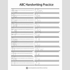 Alphabet Tracing & Writing Worksheet By Full House School House Tpt