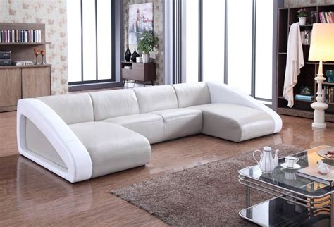 Contemporary Leather Corner Sofas by Contemporary Style Leather Curved Corner Sofa Oakland
