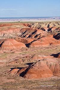 Photo: Painted Desert in late afternoon light. Petrified ...