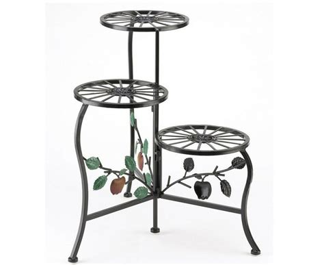 Country Apple Plant Stand Shelf Holds Flower Pots, Display