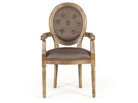 chaise en bois chaise médaillon avec accoudoirs en polyester et bois