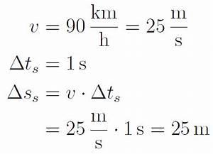 Anhalteweg Berechnen Physik : eine muster rechenaufgabe ~ Themetempest.com Abrechnung