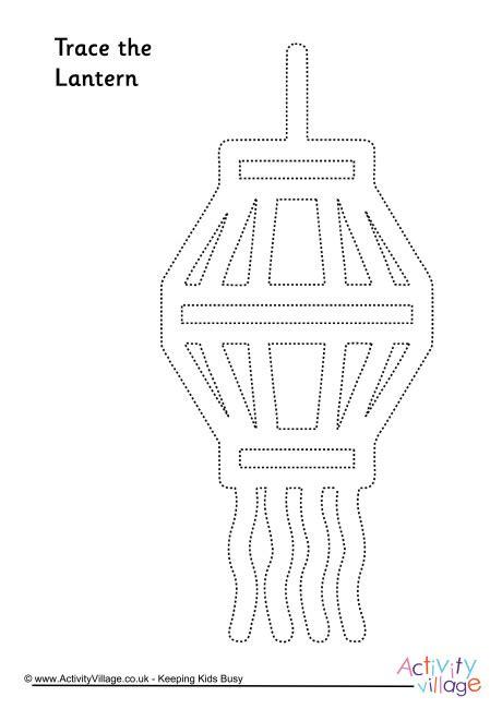 lantern tracing page