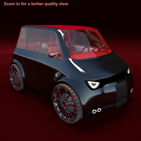 Compact Electric Cars by Compact Electric Concept Car 3d Model