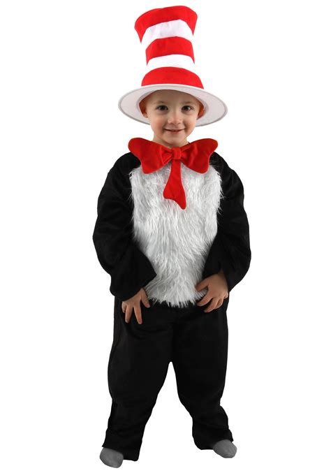 cat in the hat costume deluxe toddler cat in the hat costume