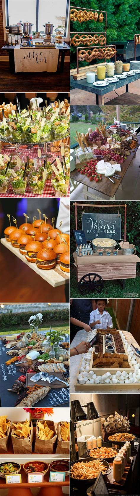 great wedding food station ideas   reception
