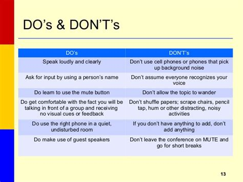 do not call cell phone conference call etiquette