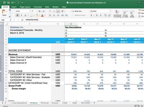 business budget template  xls   slidebean