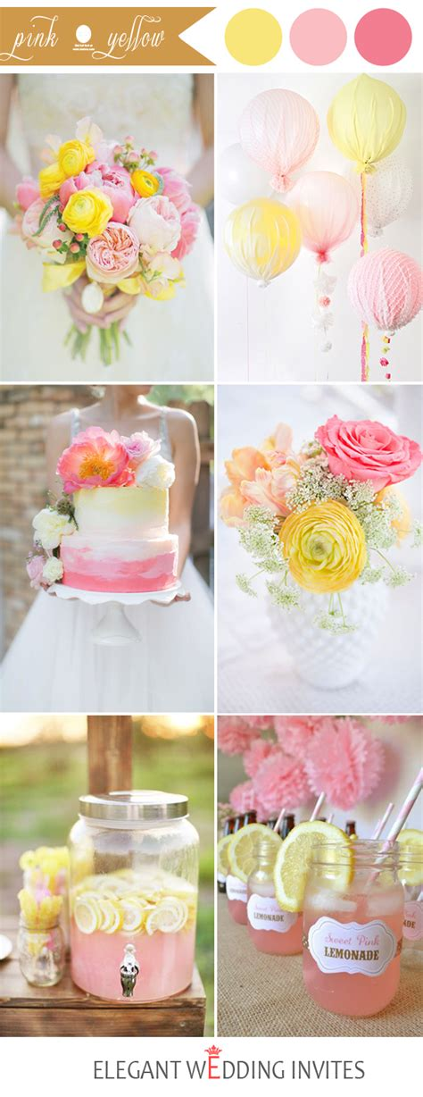 perfect pink wedding color combination ideas