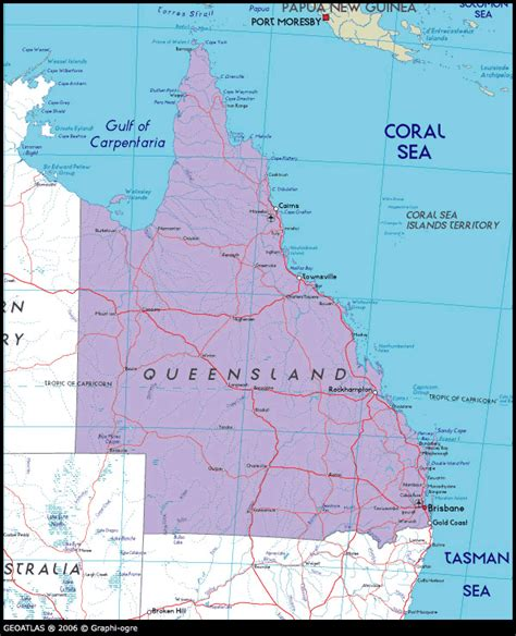 queensland australia map towns