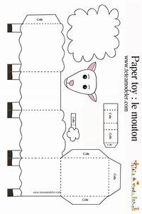 sheep paper toys and lamb on pinterest With cardboard sheep template