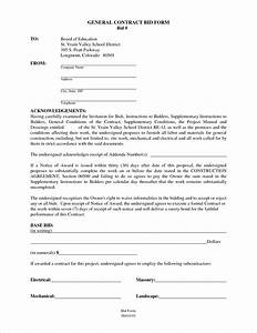 6 general contractor contract templatereport template for General contractors contract template
