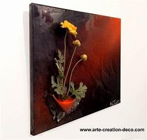 Tableau floral peinture decoration murale fleur en 3d for Couleur de peinture tendance 12 tableau floral peinture decoration murale fleur en 3d