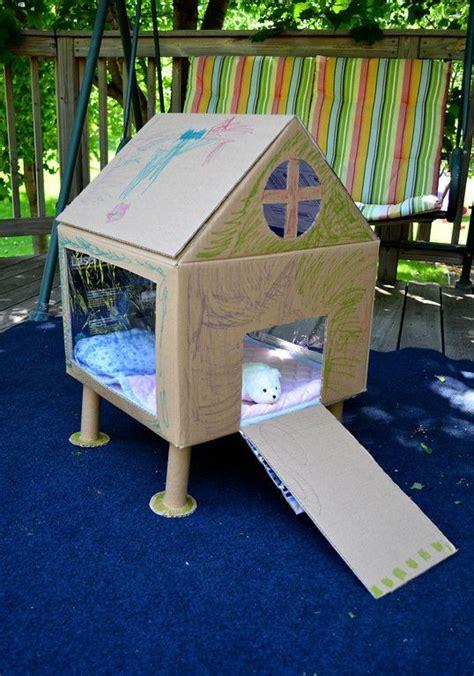 cardboard rabbit hutch play house cardboard houses