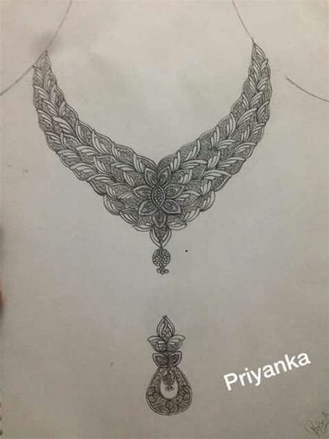 necklace scatch bridal jewellery in 2019 jewelry design drawing jewelry drawing