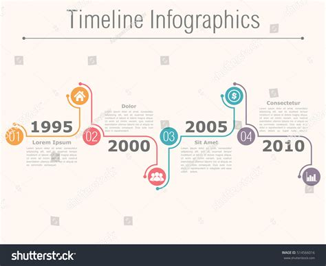 Timeline Infographics Design Template Numbers Icons Stock Illustration 514566016 Music Infographic Poster Design Quotes Template Download Maker Pie Chart Food Pdf Photoshop Movie