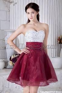 wedding dress jackets beaded white and burgundy sweet 15 dress img 6949 1st