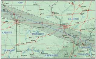 Missouri Illinois Map and Eclipse