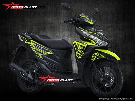 Modif Honda Vario 150 by Modifikasi Honda Vario 150 Black Green Lemon Speedmaster