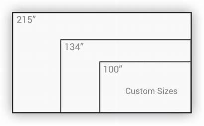 Screen Projection Dimensions Arete Difference Arete Screens