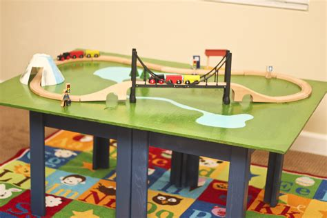 diy train table top make a train table with plywood and a coffee table