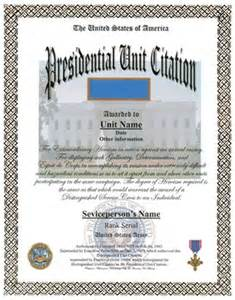 Army Presidential Unit Citation Award