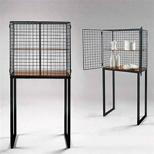 Wire Mesh Cabinet In Black Or White By Out There Interiors