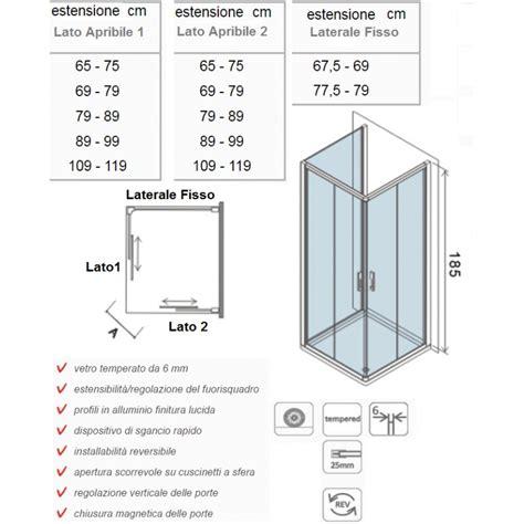 Altezza Cabina Doccia altezza standard box doccia