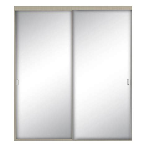 Beveled Mirror Closet Doors by Impact Plus 48 In X 80 In Beveled Edge Backed Mirror