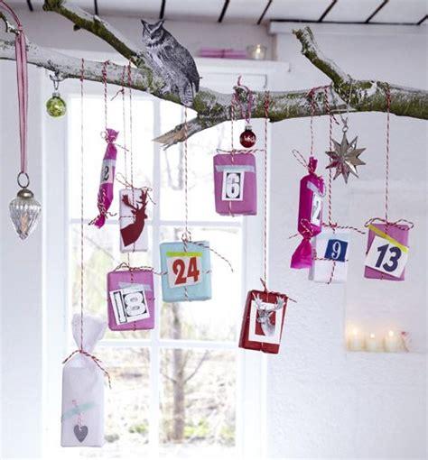 kleine geschenke weihnachten adventskalender basteln kleine geschenke am ast