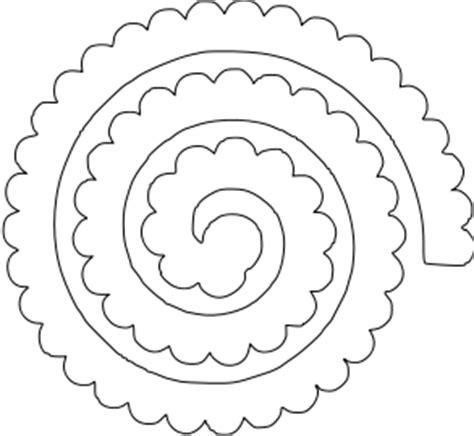 cricut flower template flower shoppe rolled 1 paperthisandthat svg box cutting files flower