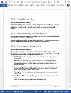 Employee Handbook Template  Ms Word  Excel   U2013 Templates
