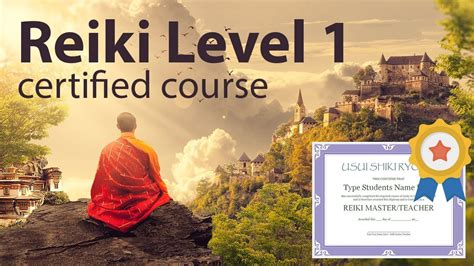 certification courses certified free reiki course level 1