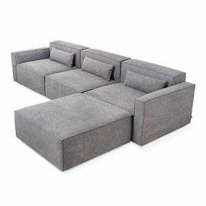 Mix modular sectional 4 pc sectionals gus modern for Modular sectional sofa