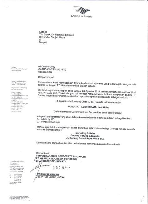 Surat Keterangan Layak Kerja by Sponsor Garuda Mutiara Fadjar
