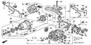 Honda Online Store   2003 Crv Rear Differential Parts